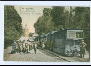 XX12067/ Bonsecours Route de Conde Tram Straßenbahn AK 1917 -762-