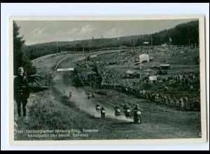 XX12035/ Teterow Mecklenburg. Nürburg-Ring Motorrad-Rennen AK 1937