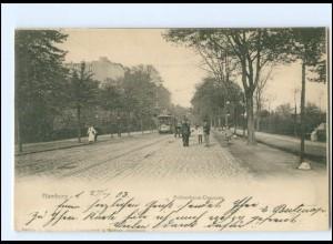 XX12053/ Hamburg Rotherbaum Rothenbaum-Chaussee Straßenbahn AK 1903
