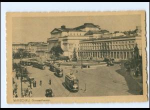 Y18560/ Warschau Warszawa Großes Theater Straßenbahn ca.1940 AK Polen