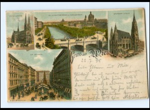 Y18568/ Gruß aus Wien Litho AK 1898