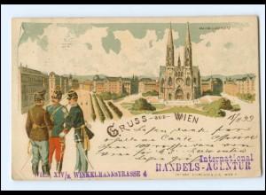 Y18569/ Gruß aus Wien Litho AK 1899