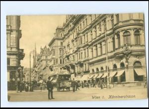 Y18570/ Gruß Kärntnerstraße Kutsche mit Bleich-Seife Werbung AK ca.1910