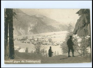 Y18575/ Ehrwald gegen Danielspitze Tirol Foto AK ca.1930