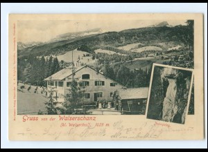 Y18576/ Gruß von Walserschanz Vorarlberg AK 1900