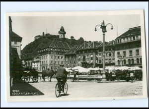 Y18577/ Graz Adolf-H-Platz Steiermark Foto AK 1938