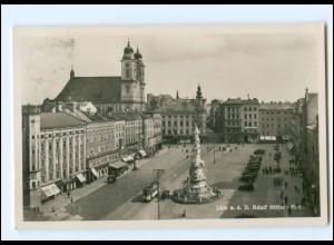 Y18583/ Linz Adolf-H-Platz Straßenbahn 1940 O.-Ö.