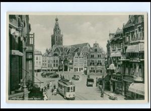 Y18601/ Nijmegen Groote Markt Straßenbahn AK ca.1935
