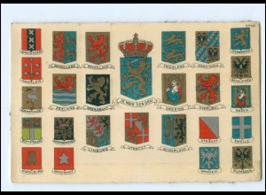 Y18607/ Niederlande Holland Wappen Litho AK ca.1910