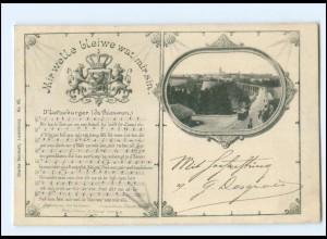 Y18616/ Luxemburg Lieder AK D`Letzeburger 1902