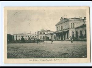 V1530/ Bahnhof in Wilna Litauen AK 1. Weltkrieg 1917