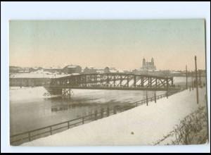 V1533/ Wilna die grüne Brücke AK Litauen 1917