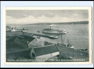 V1539/ Memel Hafen Dampfer Ak ca.1938