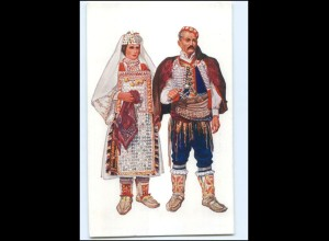 V1556/ Kroatien Volkstrachten - Dalmatien - Vladimir Kirin AK