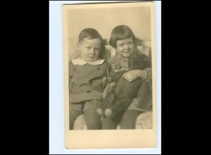 Y18621/ Kinder mit Teddybär Foto AK ca.1950