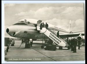 XX12093/ Flughafen Hamburg Fuhlsbüttel Flugzeug Douglas DC-8 Düsen-Clipper