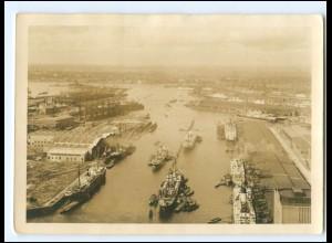XX12102/ Hamburg Hafen Schiffe Foto AK ca.1935