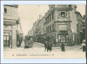 XX12115/ Avranches Tram Straßenbahn AK ca.1912 -503-