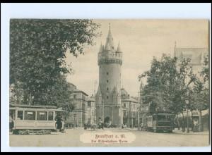 XX12116/ Frankfurt M. Eschenheimer Turm Straßenbahn AK 1907
