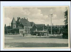 XX13043/ Goslar Bahnhof Omnibus AK 1937