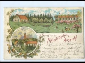 XX13033/ Hamburg Harburg Gruß v .d. Majestätischen Aussicht Litho AK 1897