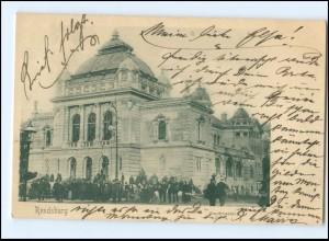 XX13719/ Rendsburg Stadttheater AK 1902