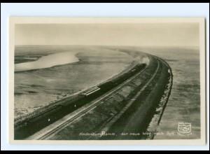 XX12570/ Hindeburgdamm Sylt Eisenbahn Foto AK ca.1935
