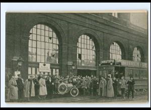 """XX12744/ Lille Nordbahnhof Straßenbahn AK """"Aus der Liller Kriegszeitung"""" WK1"""