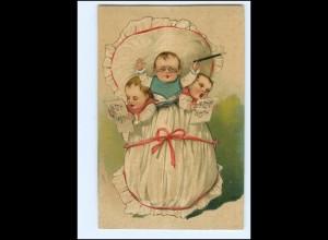 XX12745/ Babys singen schöne Litho Präge AK 1910