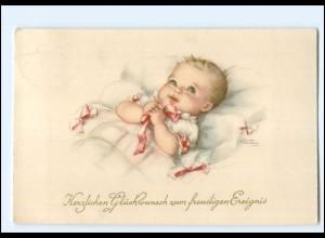 XX12556/ Geburt freudiges Ereignis Baby Hannes Petersen AK 1939