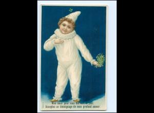 XX12563/ Junge als Pierrot schöne Litho Präge AK ca.1900