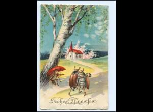 XX12543/ Pfingsten Maikäfer tanzen Litho AK 1929