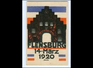 XX12750/ Abstimmung 1920 AK Flensburg, Schleswig--Holstein