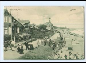 XX12135/ Wyk auf Föhr Strand 1907 AK