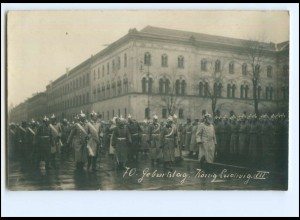 XX12510/ 70. Geburtstag König Ludwig III. Foto AK