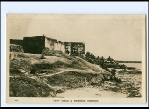 XX12608/ Fort Jesus & Mombasa Harbour Kenia Foto AK ca.1935