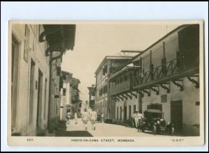 XX12610/ Mombasa Vasco-Da-Gama Street Foto AK ca.1935 Kenia