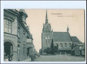 XX13047/ Freienwalde Marktplatz Pommern AK ca.1912