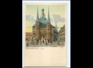 XX12286-388./ Wernigerode Rathaus ca.1900 Litho AK