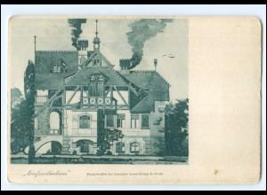 XX13057/ Aussig 1903 Aussig Ausstellungs-Lotterie Hauptgewinn Einfamilienhaus AK