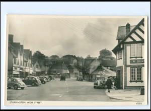 XX12493/ Storrington High Street Autos Foto AK ca.1955 Großbritannien