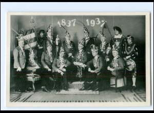 XX12488/ Bingen am Rh. Elferrat der Karneval-Verein AK 1837-1937