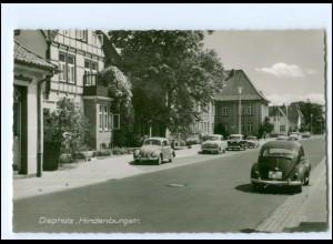XX12266-2840/ Diepholz Hindenburgstraße VW Käfer 60er Jahre AK