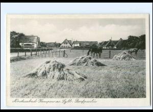 XX12389/ Kampen auf Sylt Dorfpartie 50er Jahre AK