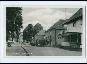 XX12155/ Reinbek Bahnhofstraße ca.1940 AK