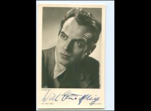 XX12970/ Will Quadflieg Original Autogramm Foto AK 40er Jahre
