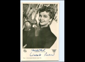 XX12965/ Liselotte Pulver Original Autogramm Foto AK 50er Jahre
