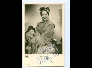 XX12966/ Nadja Tiller Original Autogramm Foto AK 50er Jahre