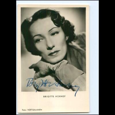XX12964/ Brigitte Horney Original Autogramm Foto AK 50er Jahre