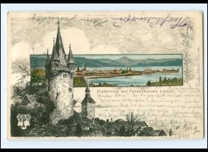 Y18663/ Lindau Diebsturm Künstler Litho AK C. Biese 1899